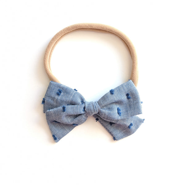 Chambray :: Mini Voyager Bow