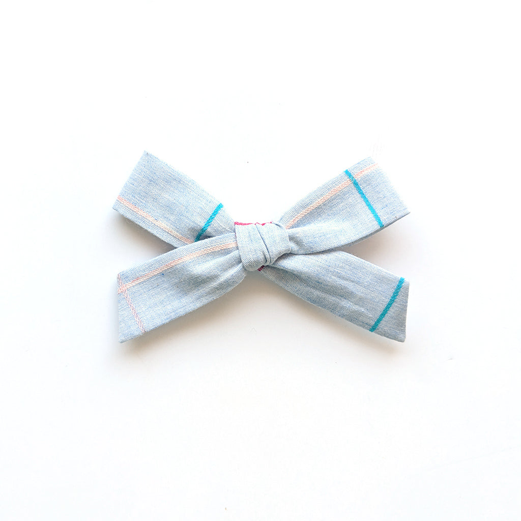 Chambray Pinstripe :: Explorer Bow