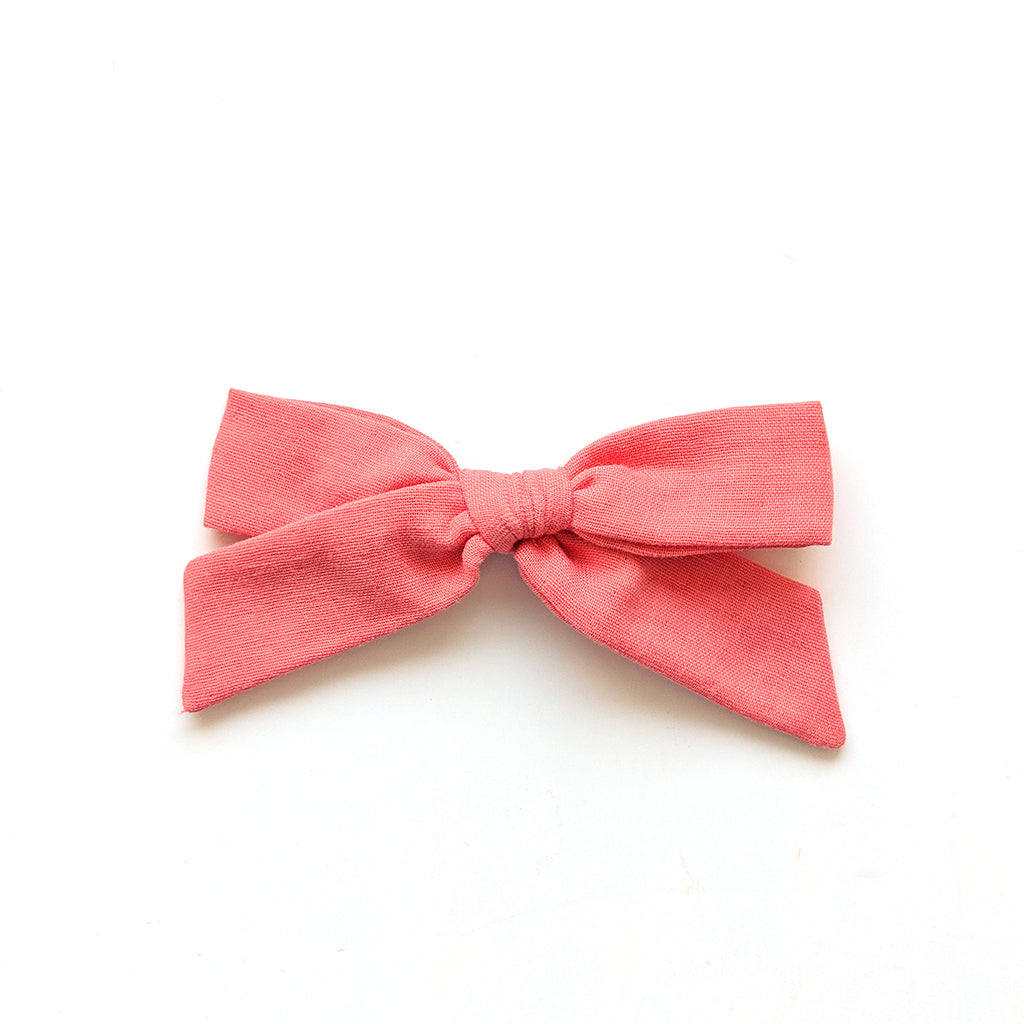 Coral Double Gauze :: Oversized Explorer Bow