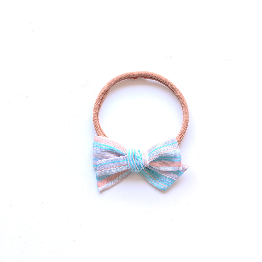 Cotton Candy Stripe :: Mini Voyager Bow