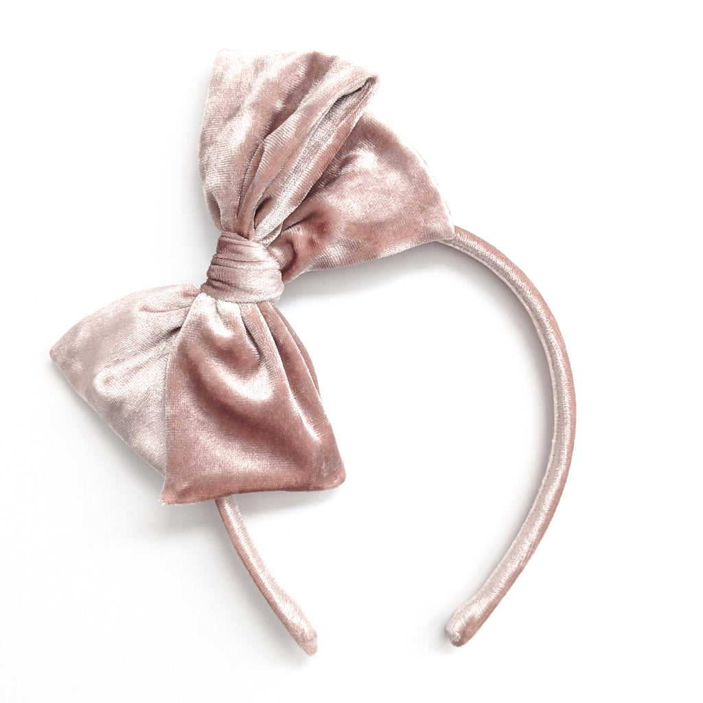 Crushed Pink :: Velvet :: Big Girl Headband