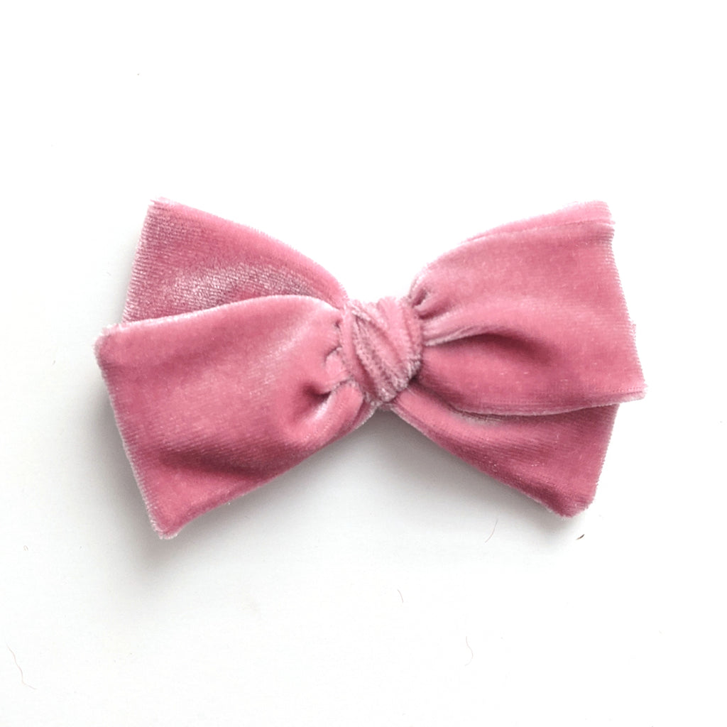 Dusty Rose :: Velvet :: Mini Voyager Bow