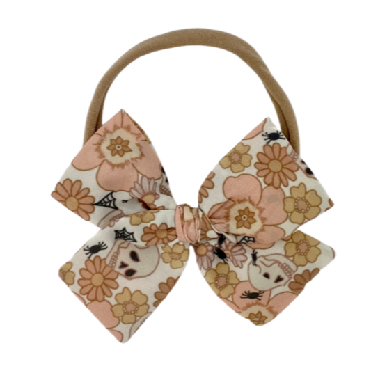 Floral Skulls :: Midi Indy and Pippa Bow