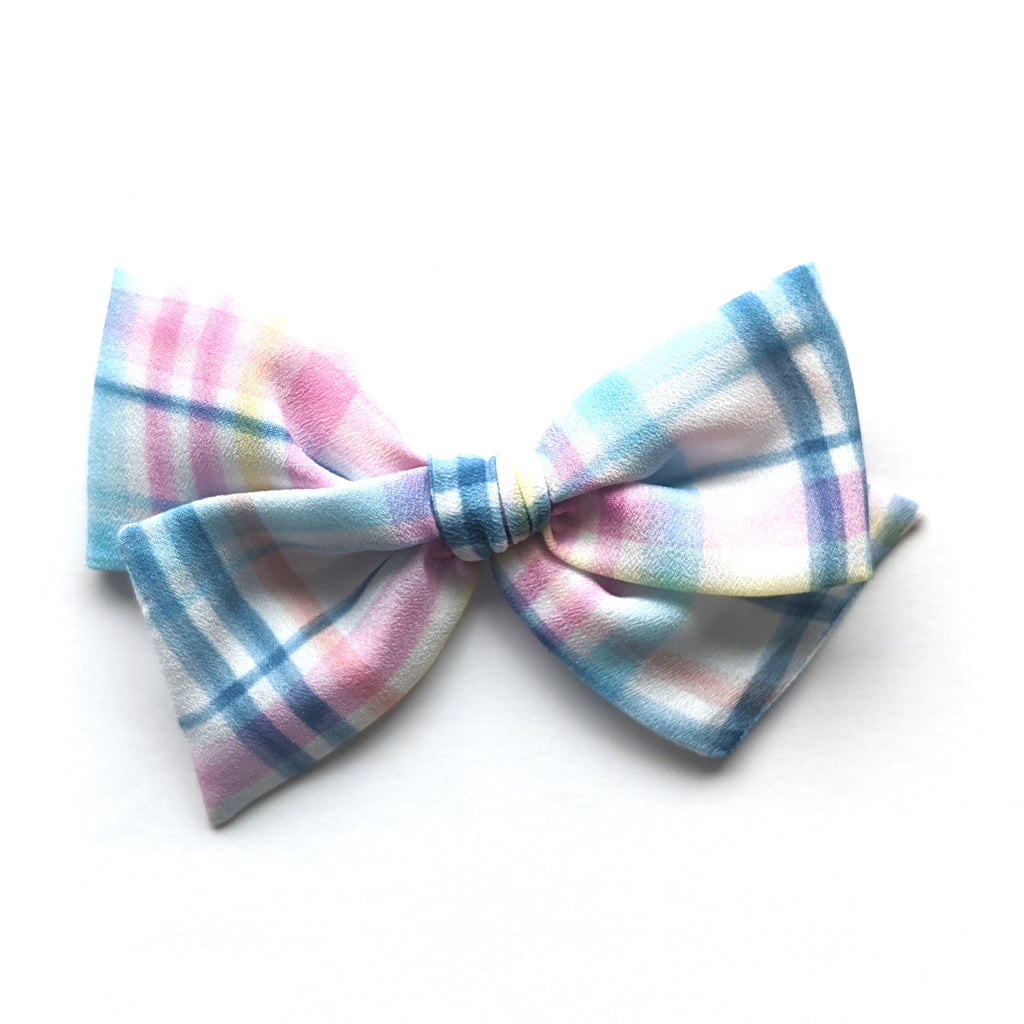 Easter Plaid :: Mini Voyager Bow