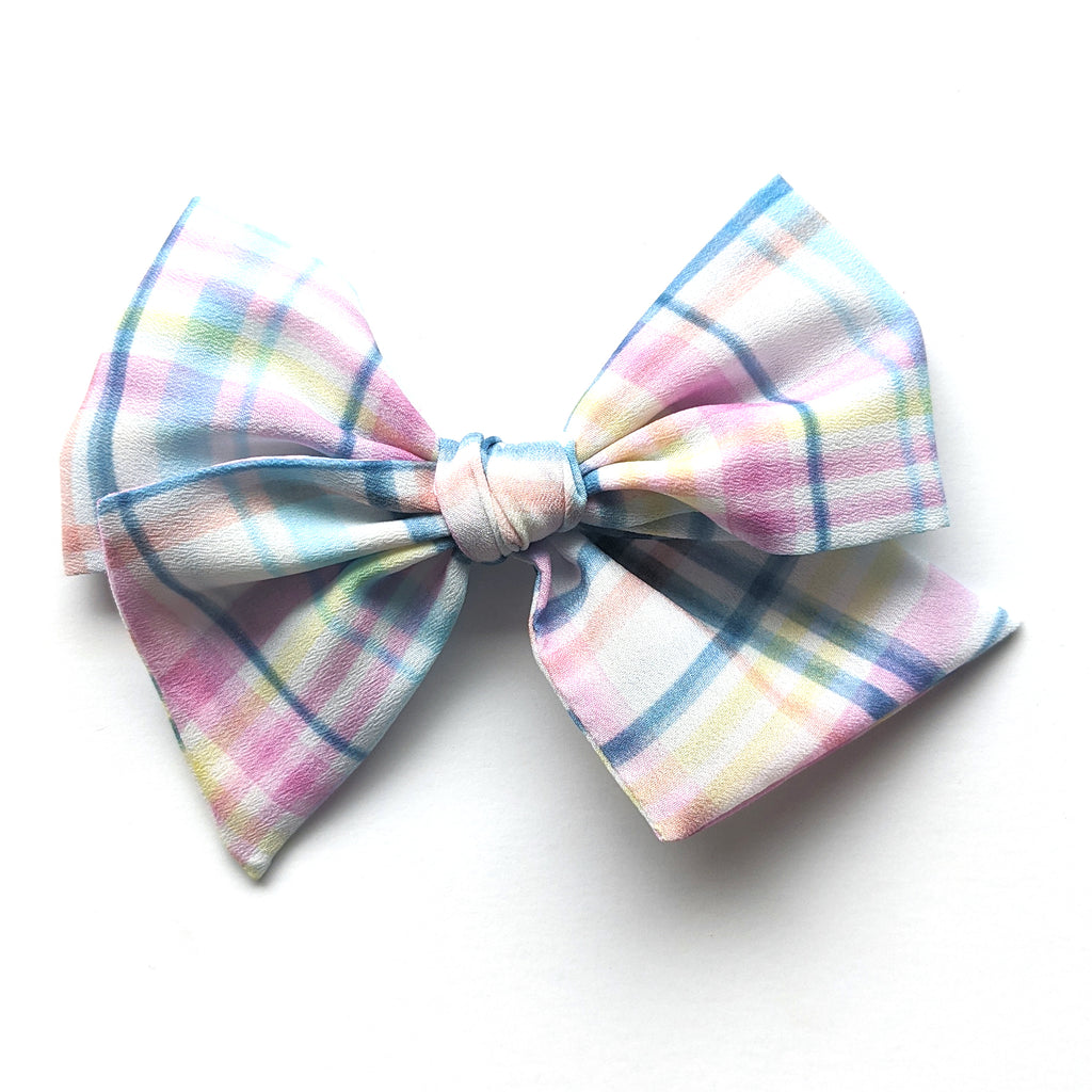 Easter Plaid :: Voyager Bow