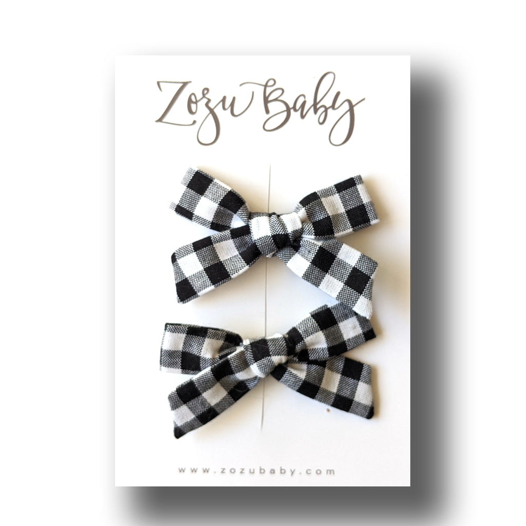 Gingham :: Mini Explorer Pigtail Set
