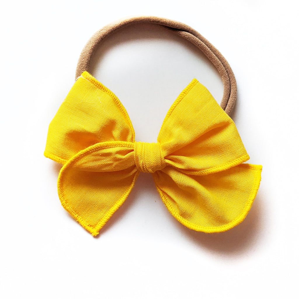 Golden :: Mini Wayfarer Bow