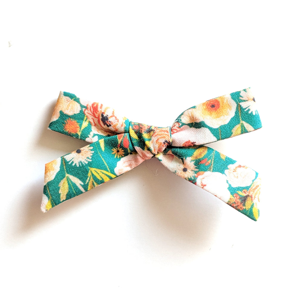 Fall Floral in Green :: Mini Explorer Bow