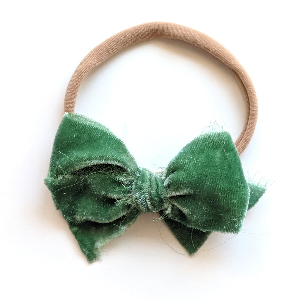 Silk Velvet Ribbon :: Mini Bow