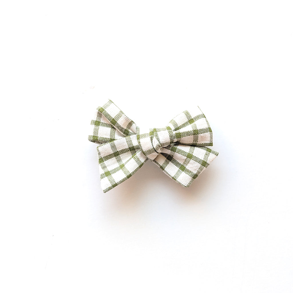 Green Plaid :: Mini Voyager Bow