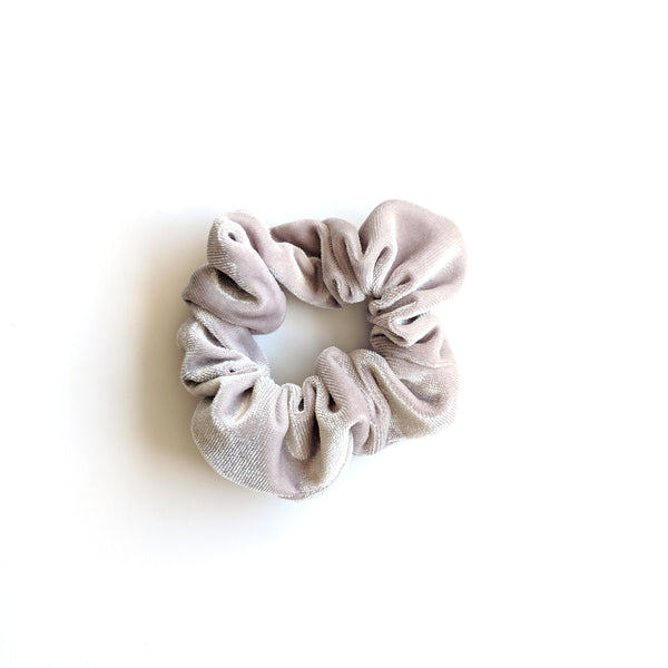 Light Grey :: Velvet Scrunchie