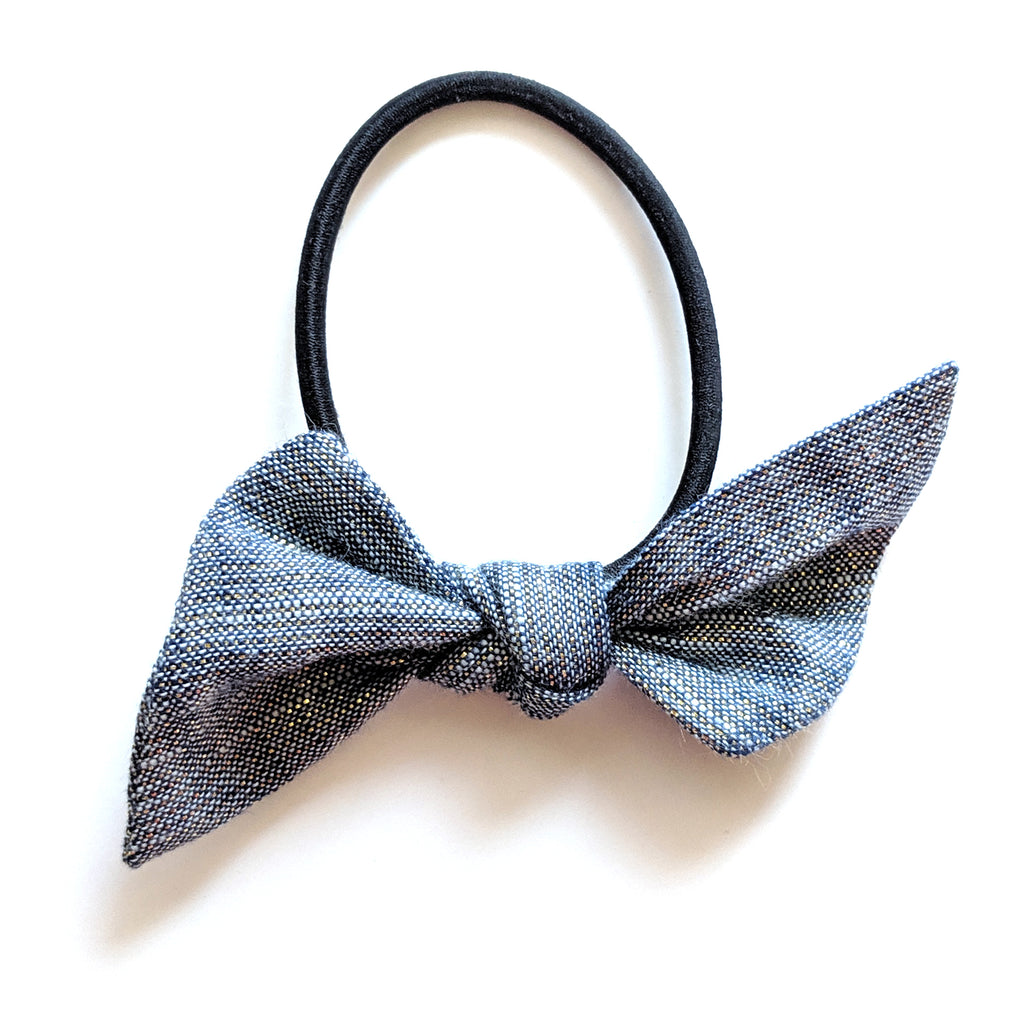 Metallic Denim :: Hair Tie