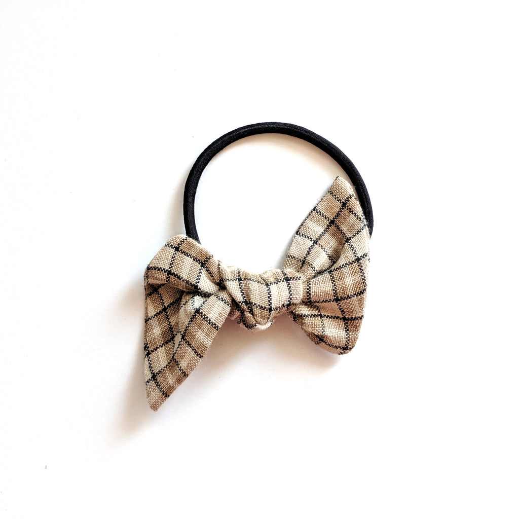 Tan Plaid :: Hair Tie