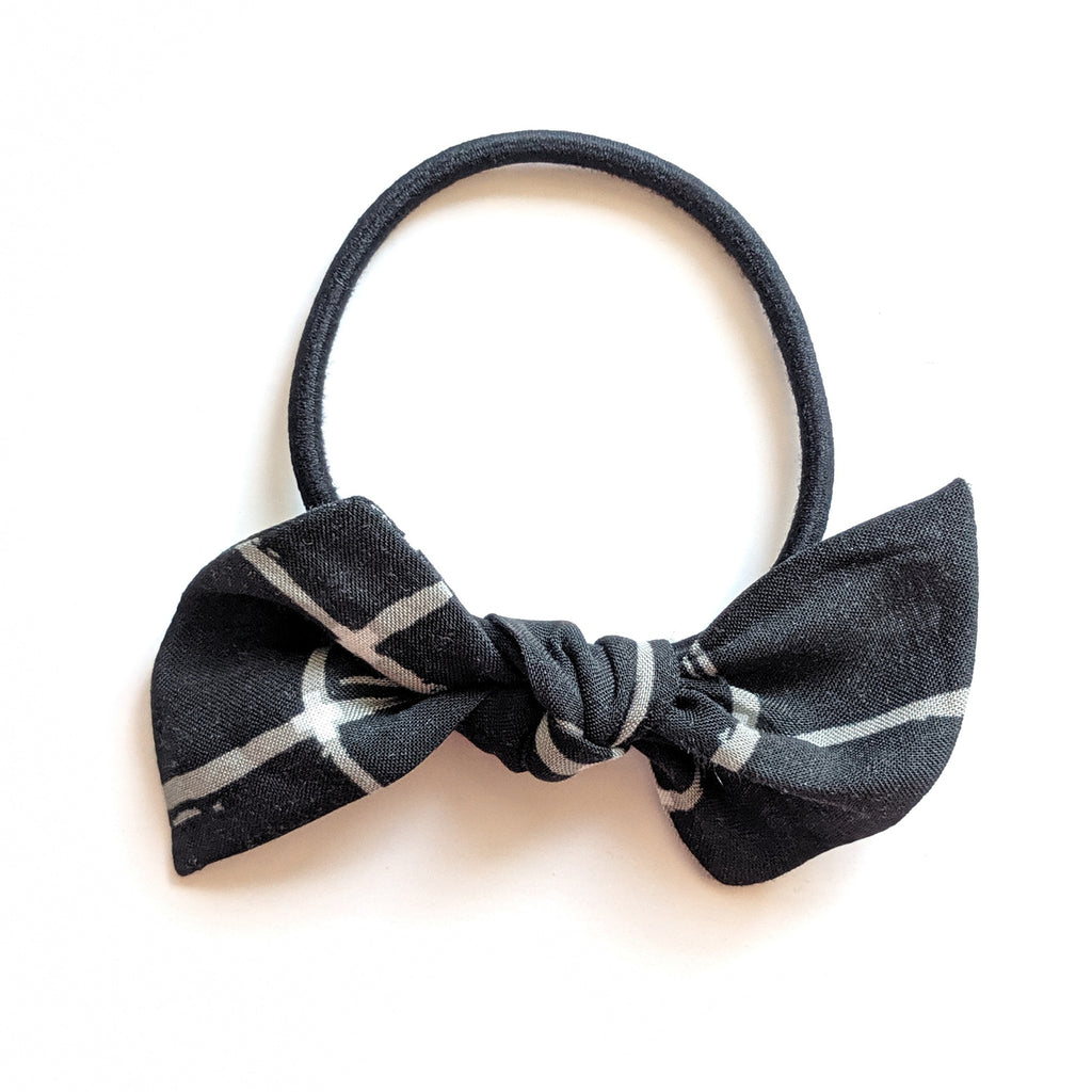 Window Pane in Black :: Hair Tie
