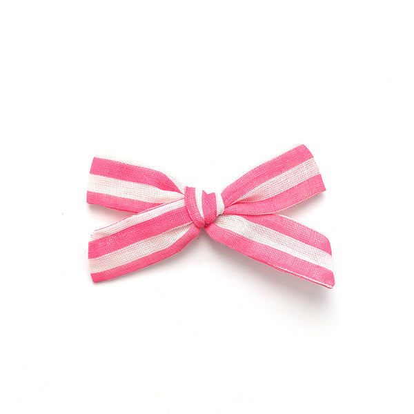 Hot Pink and White Stripe :: Explorer Bow