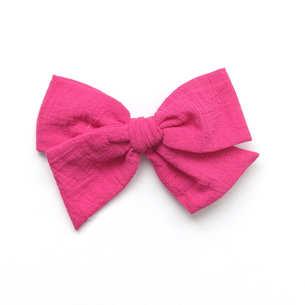 Hot Pink Gauze  :: Voyager Bow