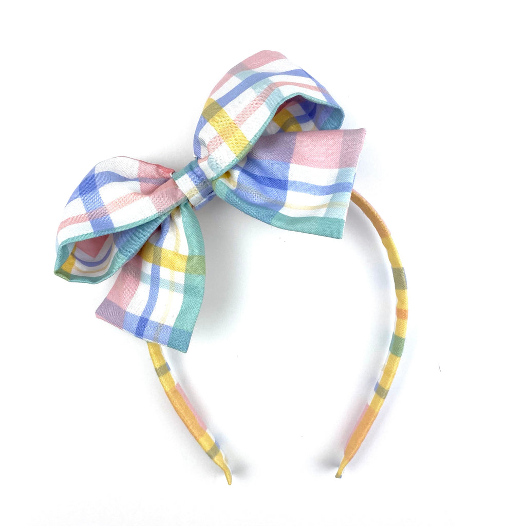 Pastel Plaid :: Big Girl Headband