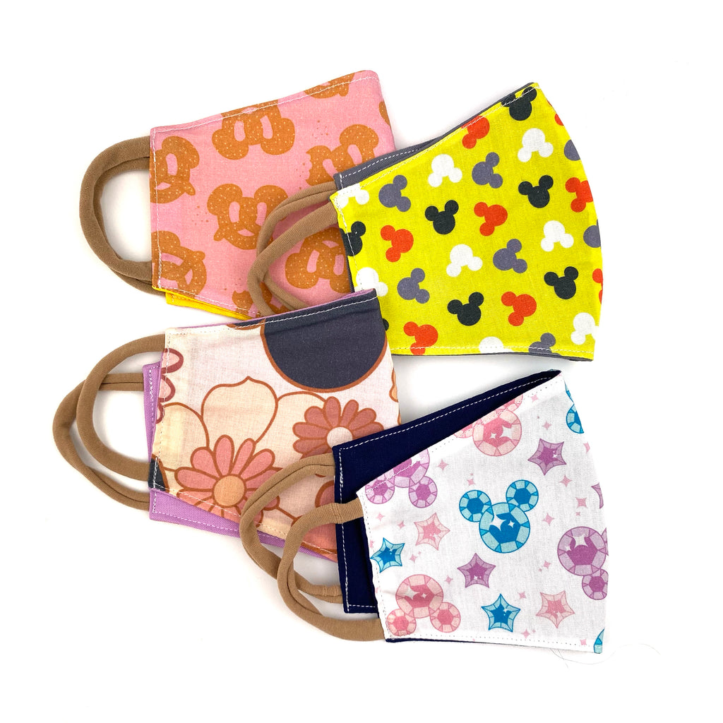 Indy & Pippa Mouse Floral :: Face Mask