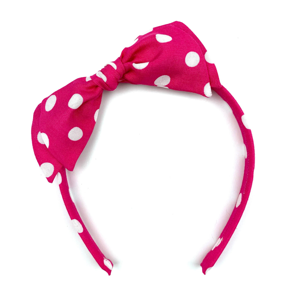 Hot Pink Dot :: Big Girl Headband
