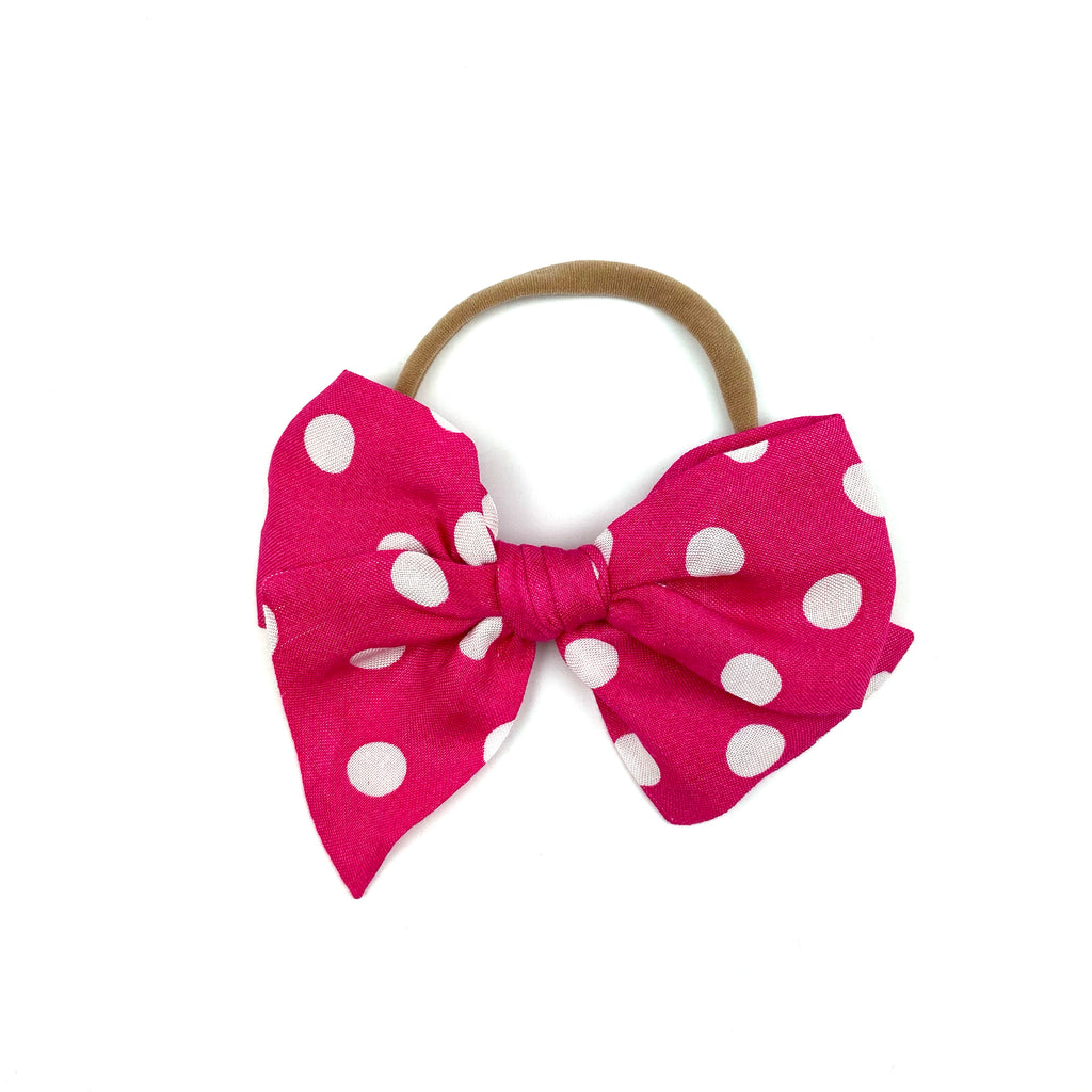 Hot Pink Dot :: Voyager Bow