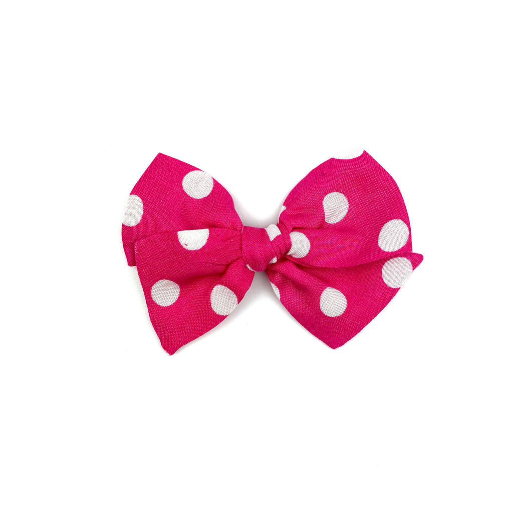Hot Pink Dot :: Mini Voyager Bow