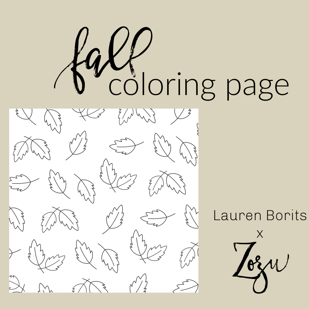Fall Leaves :: Color Pages