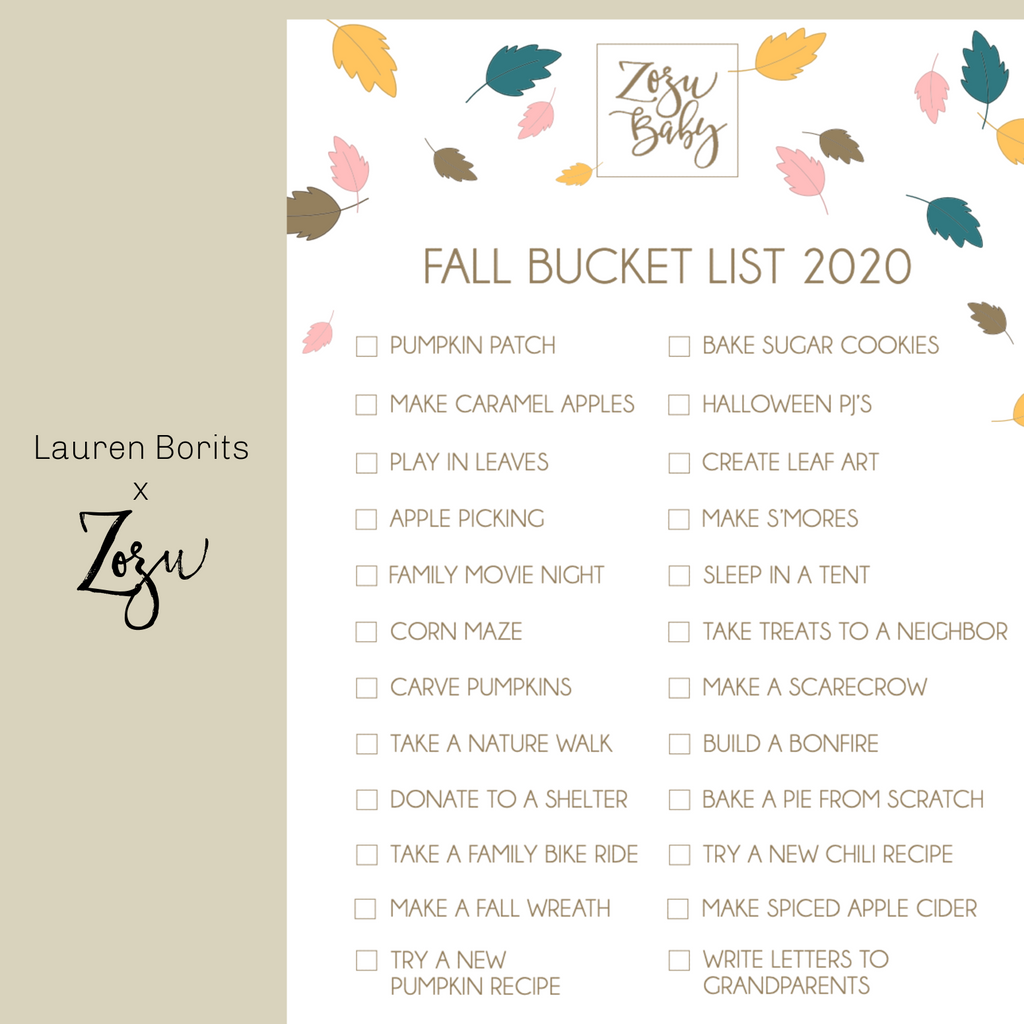 Fall Bucket List 2020 :: Digital Download
