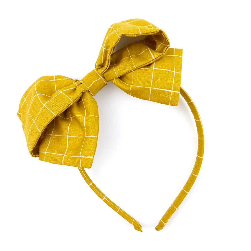 Mustard Grid :: Big Girl Headband