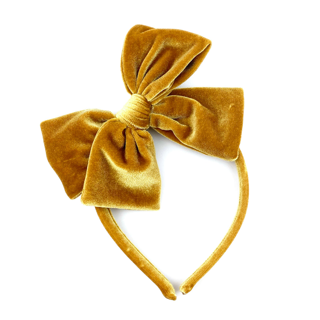 Golden Velvet :: Big Girl Headband
