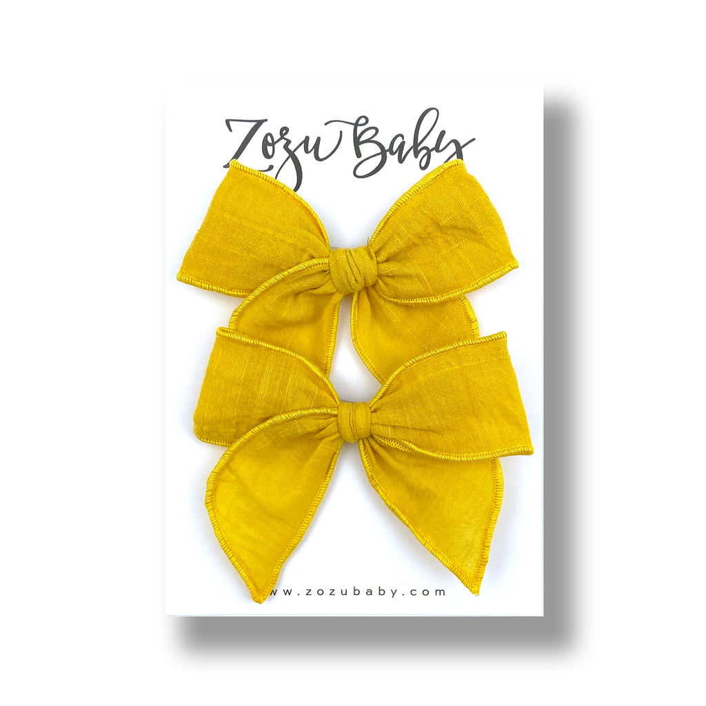 Sunflower Yellow :: Mini Traveler Pigtail Set