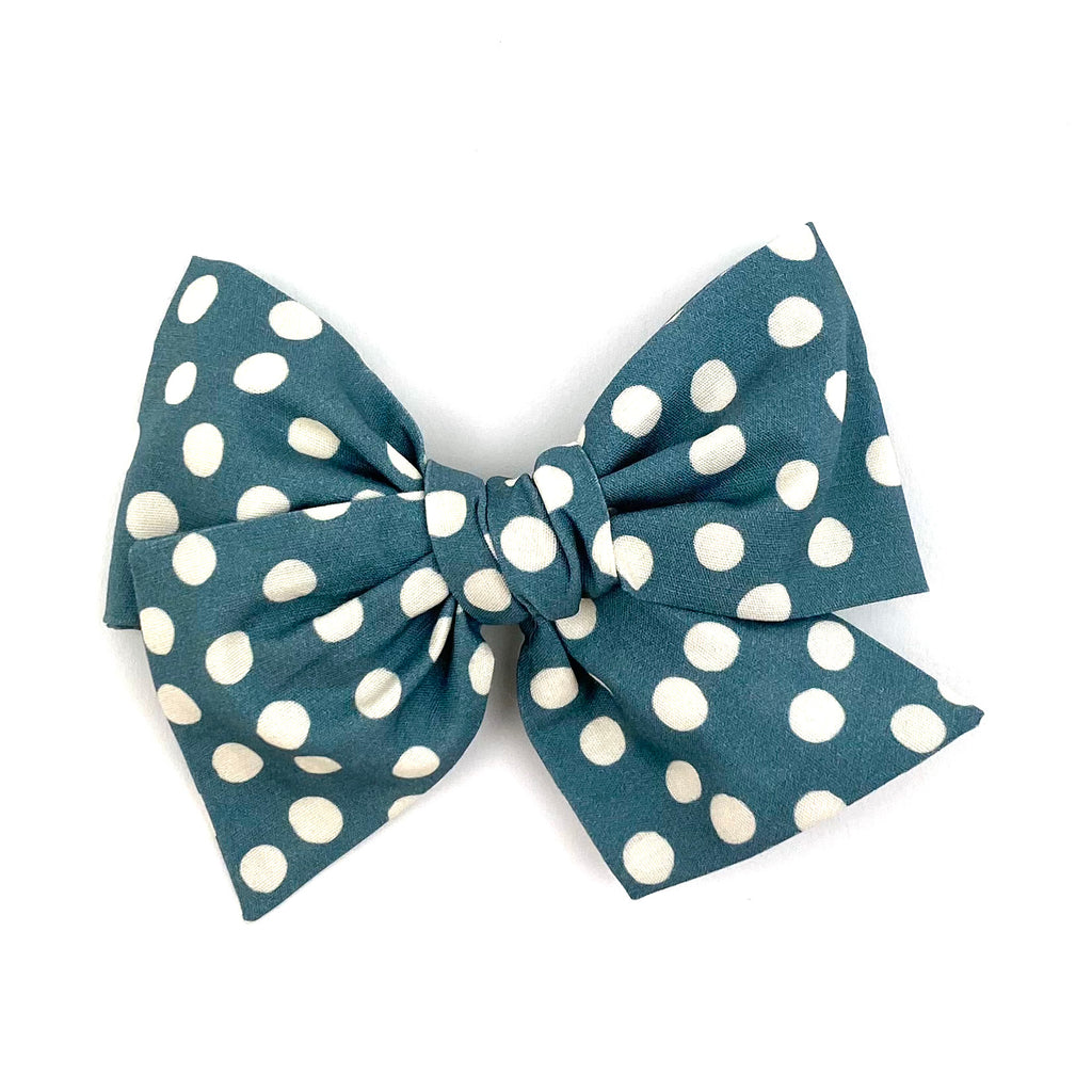 Cornflower Dot :: Voyager Bow