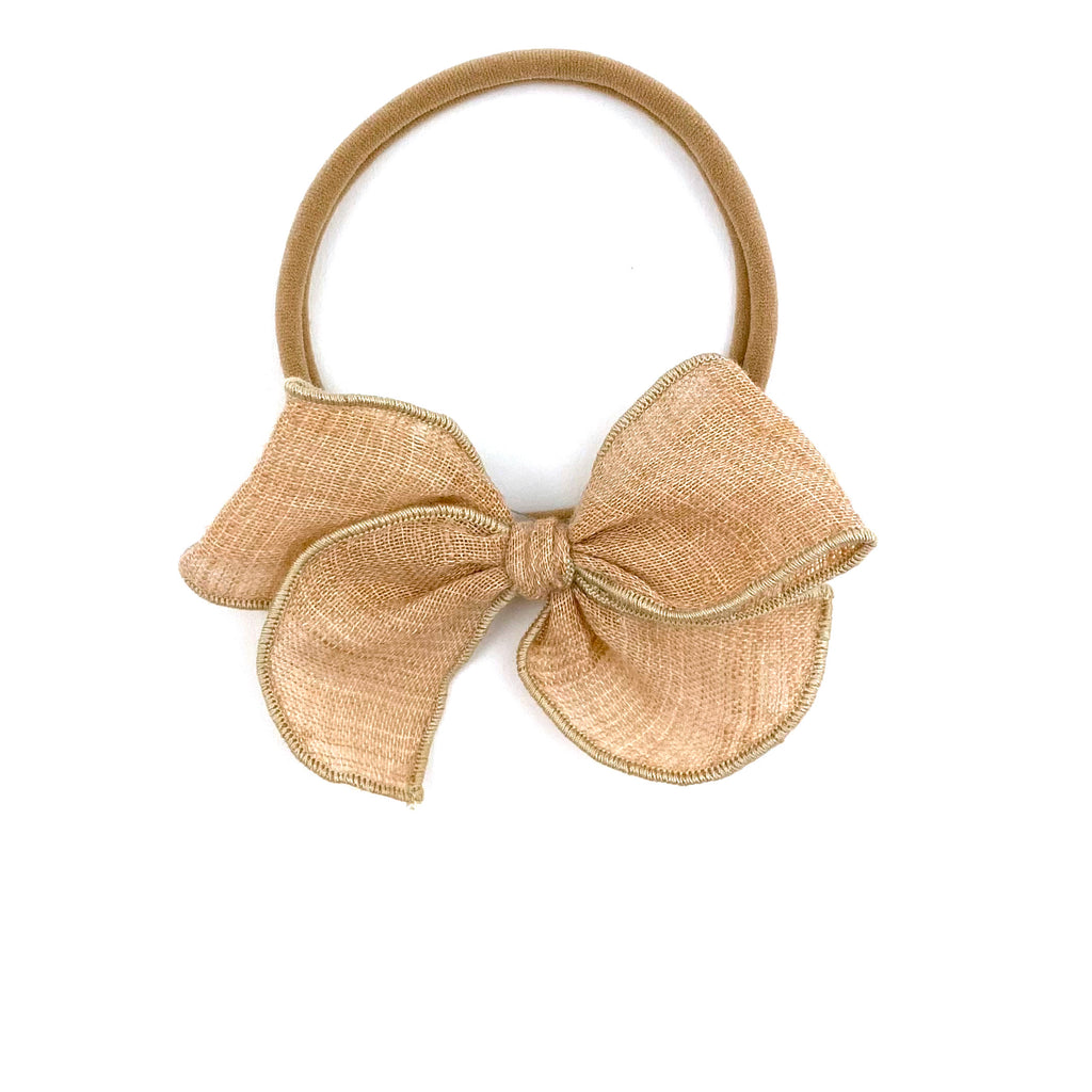 Tan :: Mini Wayfarer Bow