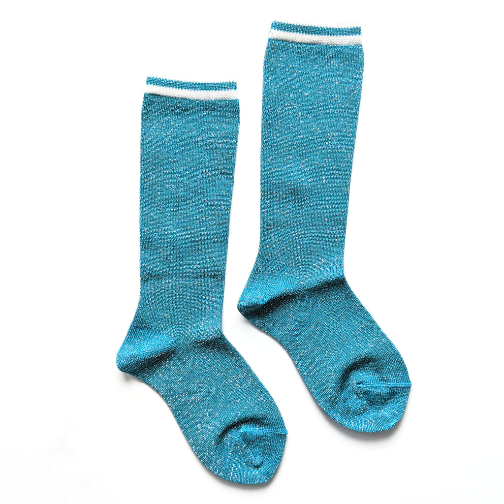 Aquamarine (Blue/Green) :: Shimmer :: Condor Knee Socks