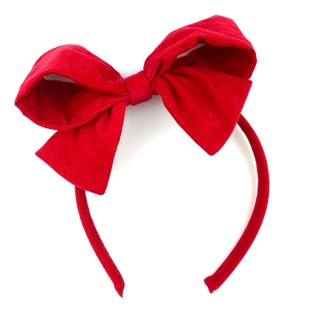 **PRE-ORDER** Red Corduroy :: Big Girl Headband