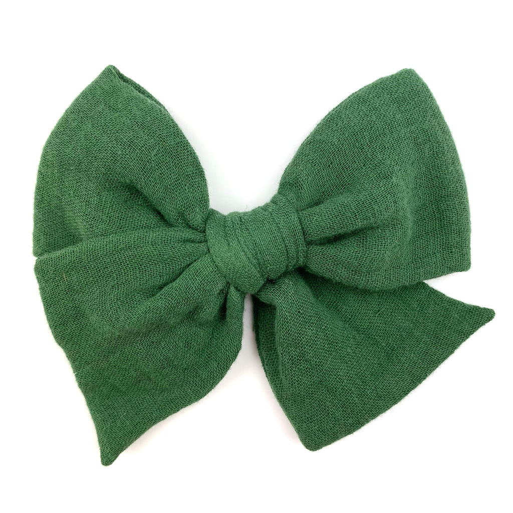 Hunter Green Gauze :: Voyager Bow