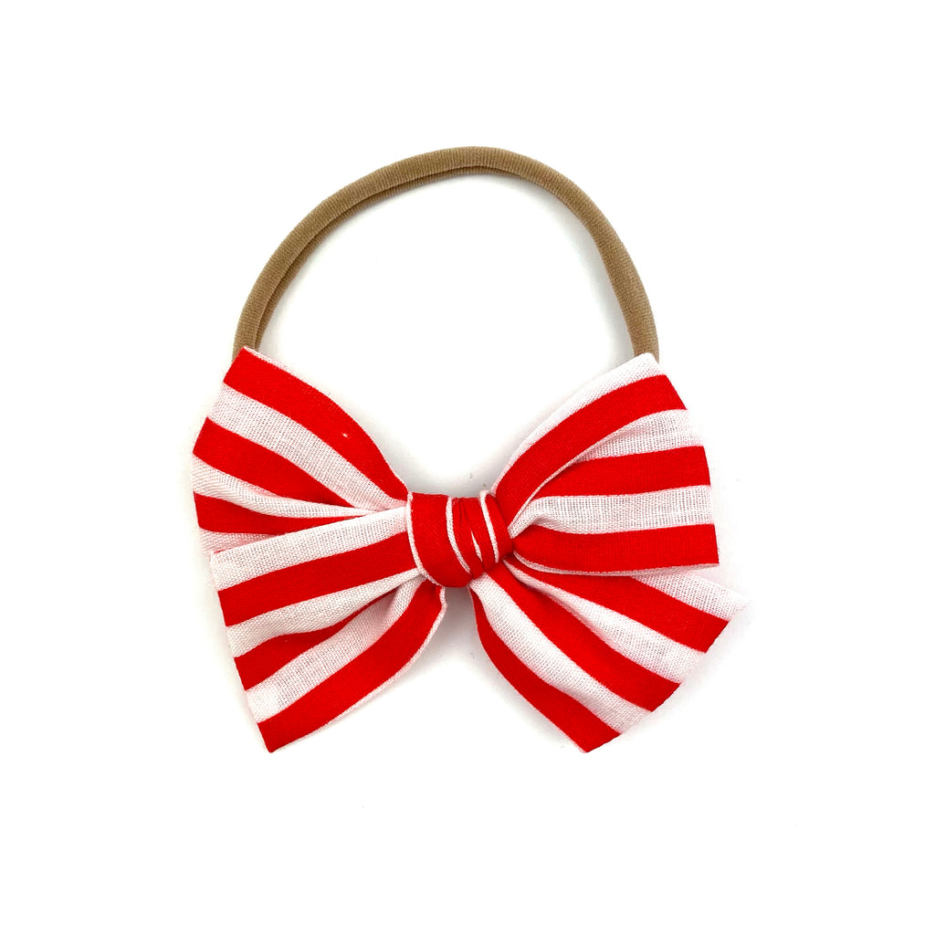 Peppermint Stripe :: Mini Voyager Bow