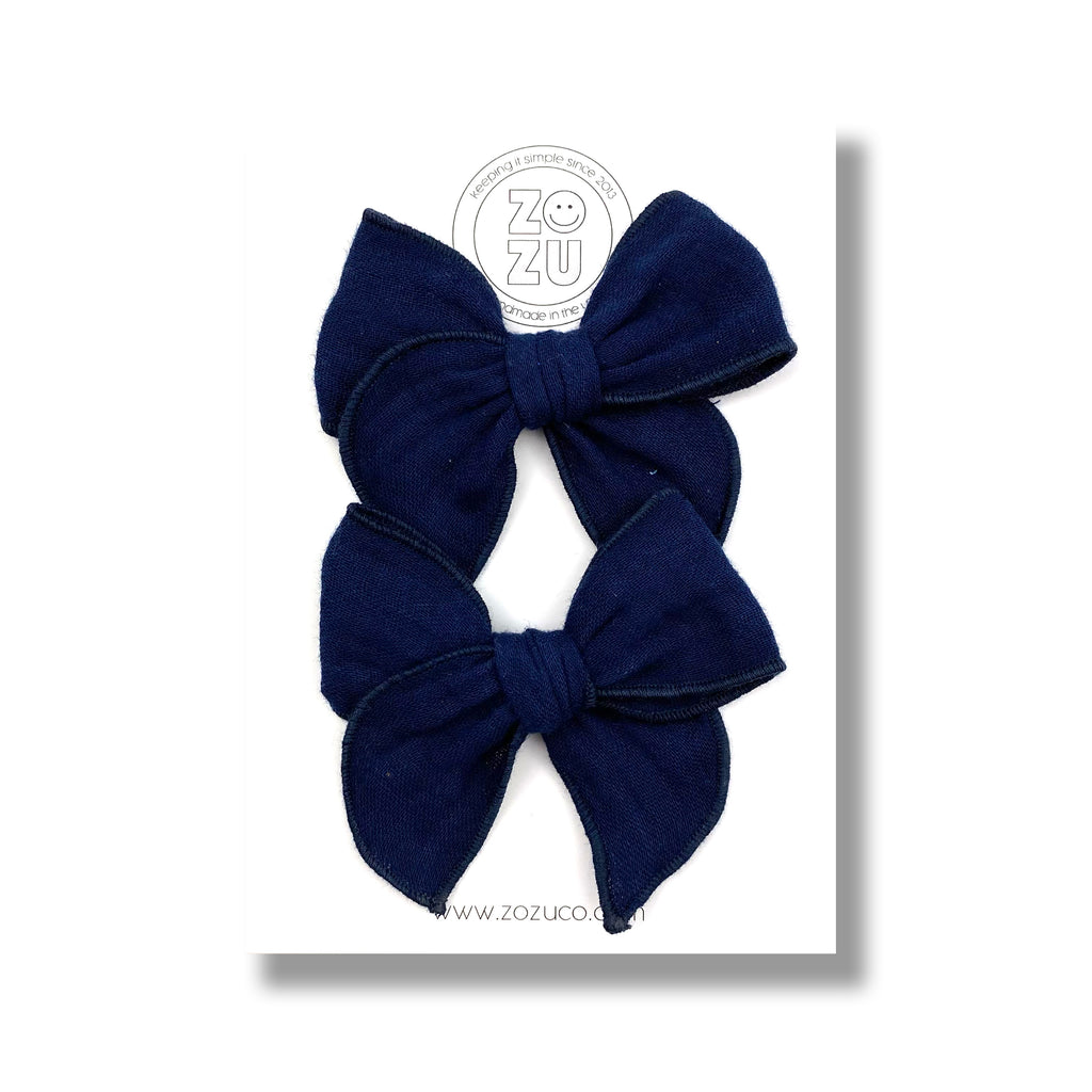 Navy Gauze :: Mini Traveler Pigtail Set