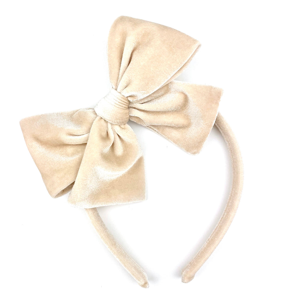 Ivory Velvet :: Big Girl Headband