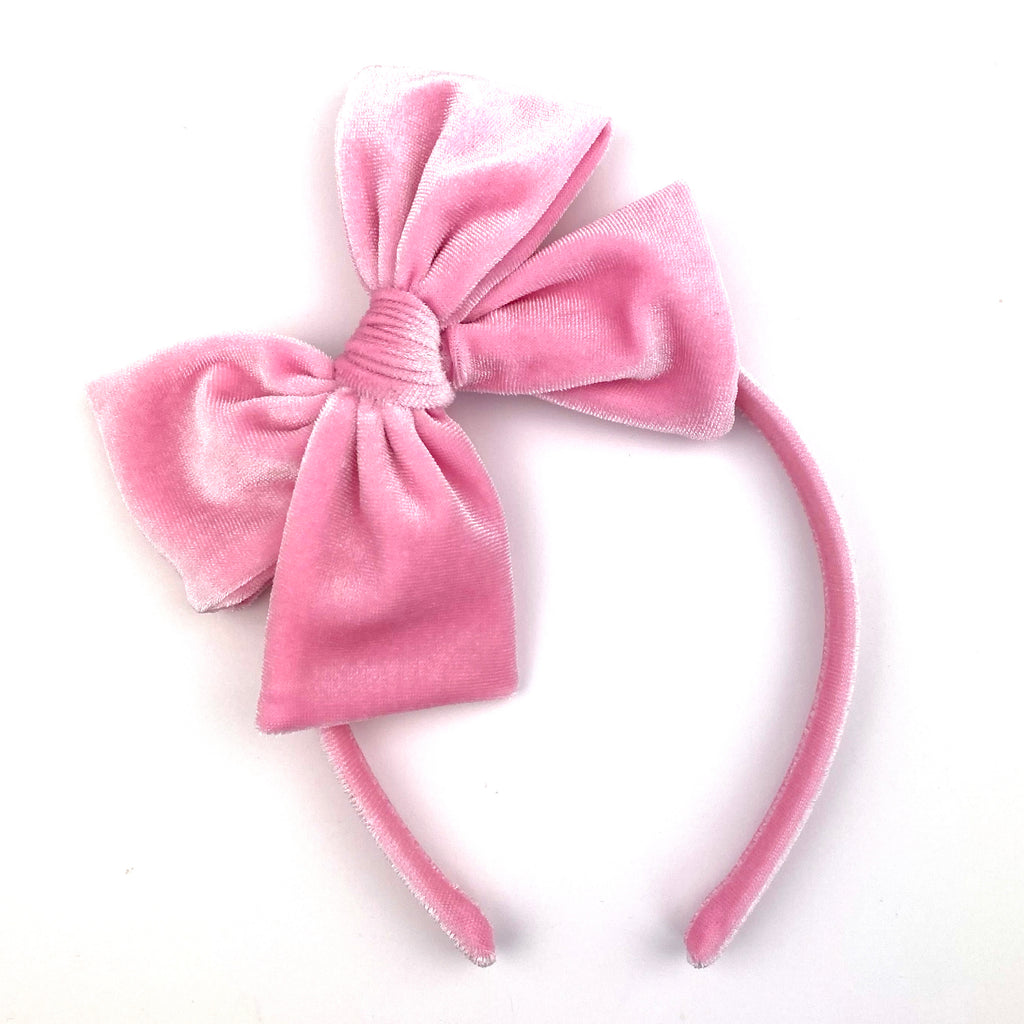 ***PRE-ORDER*** Bubblegum Velvet :: Big Girl Headband