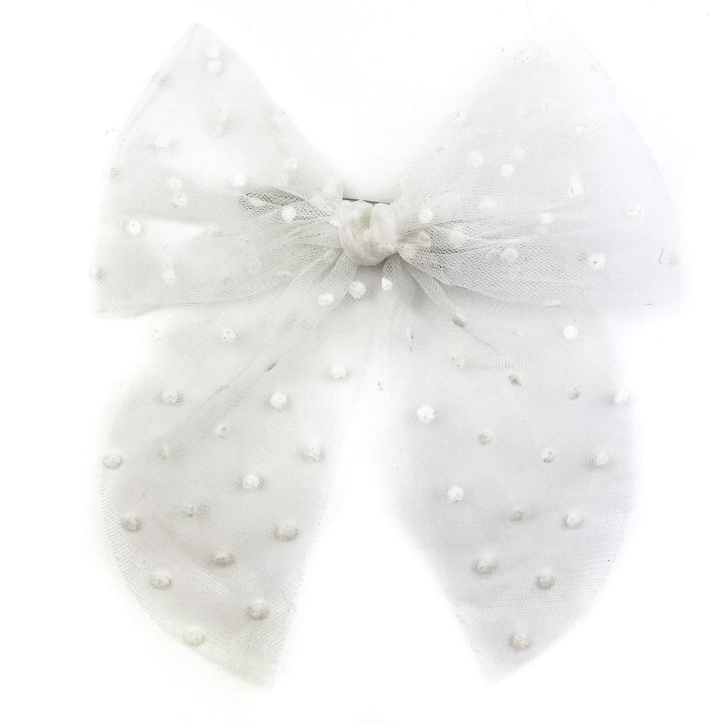 White Swiss Dot Tulle :: Traveler