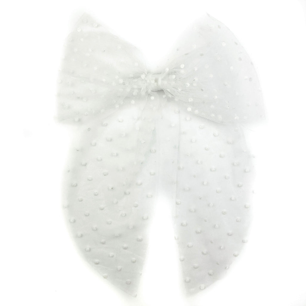 White Swiss Dot Tulle :: Oversized Traveler