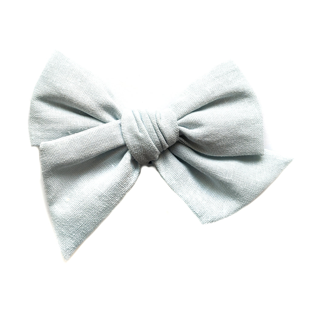 Ice Blue Linen :: Voyager Bow