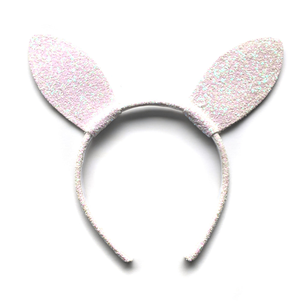 Bunny Ears :: Iridescent Glitter :: Big Girl Headband
