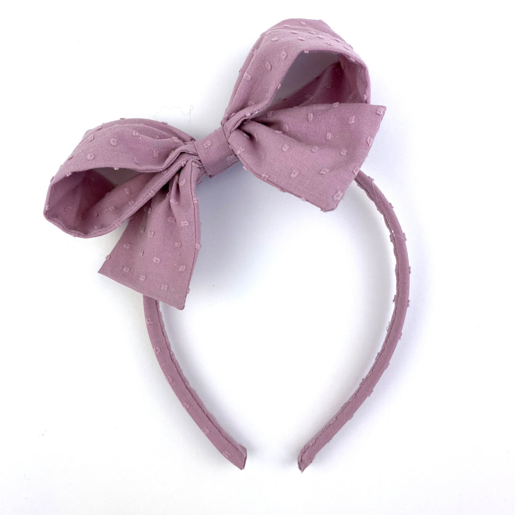 Lavender Swiss Dot :: Big Girl Headband