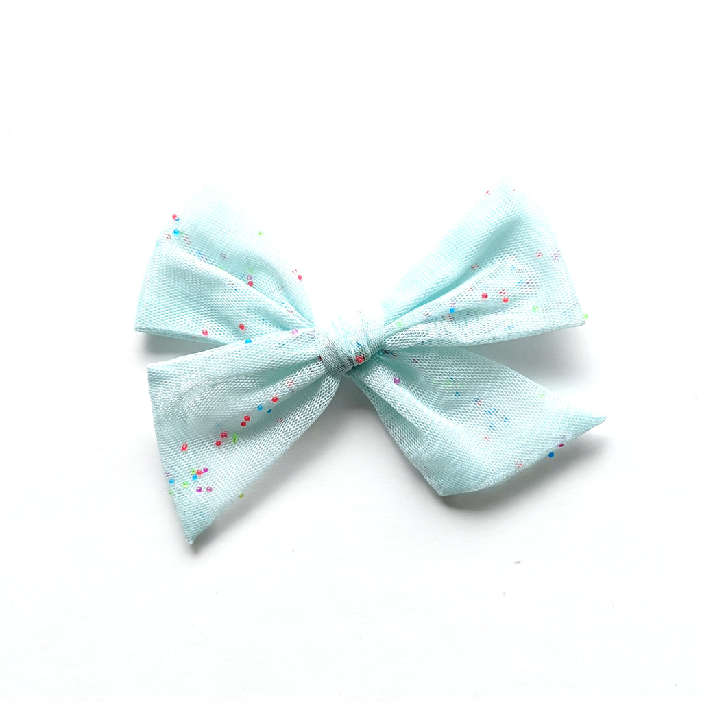 Mint Tulle Sprinkle :: Voyager Bow