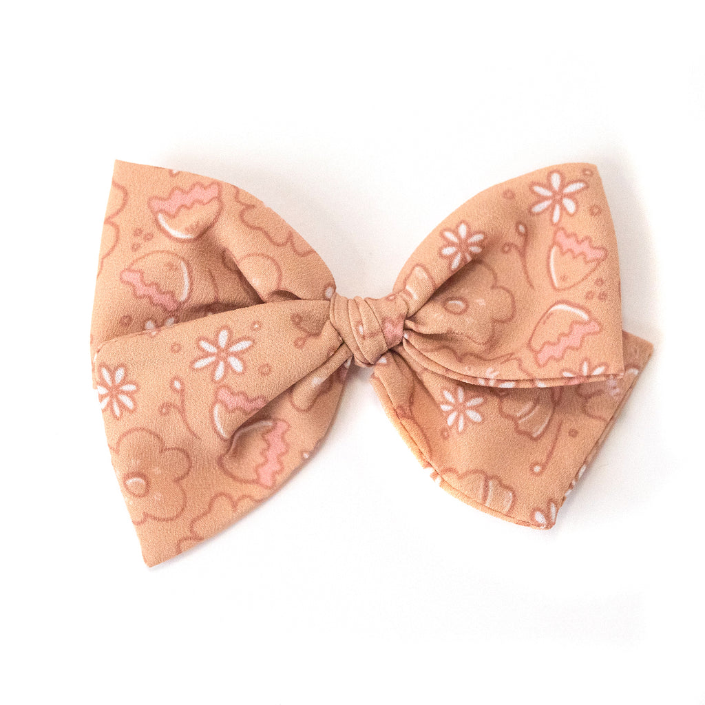 Mustard Floral :: Indy and Pippa Bow