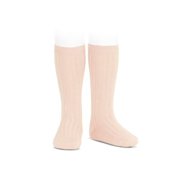 Nude :: Ribbed :: Condor Knee Socks