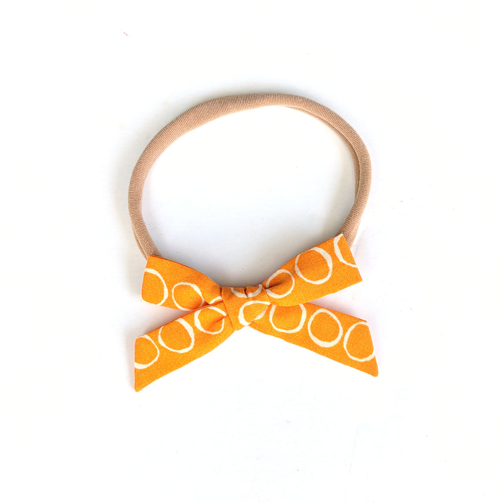Orange O's :: Mini Explorer Bow