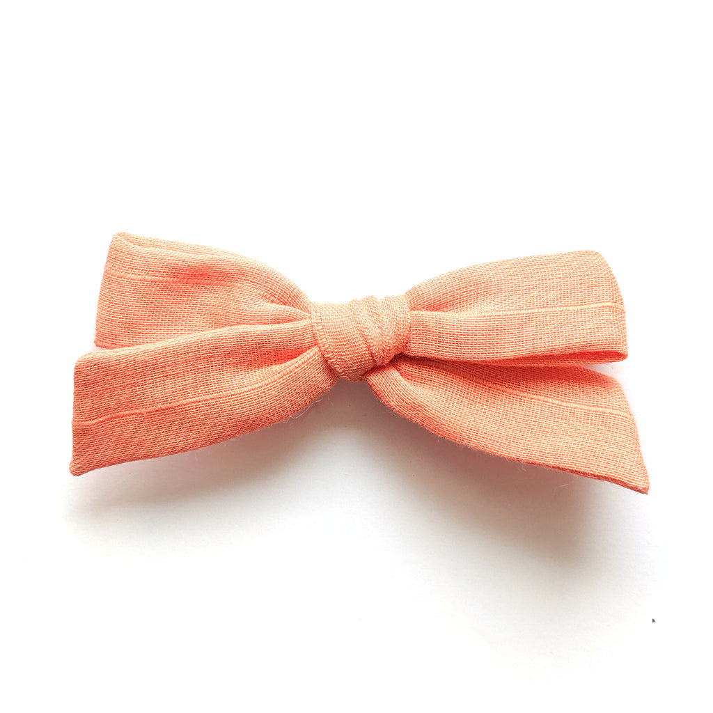 Peach Pinstripe :: Explorer Bow
