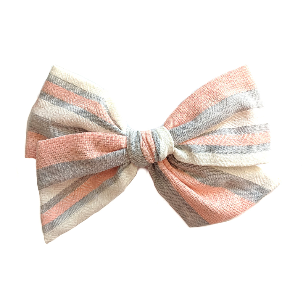 Peach Stripe :: Voyager Bow